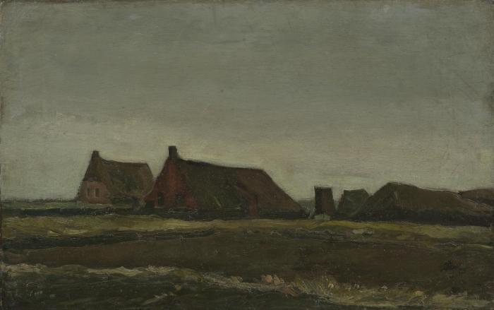 Papier peint vinyle Vincent van Gogh - Les Chalets - Reproductions