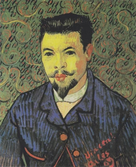 Sticker Pixerstick Vincent van Gogh - Portrait du docteur Rey - Reproductions