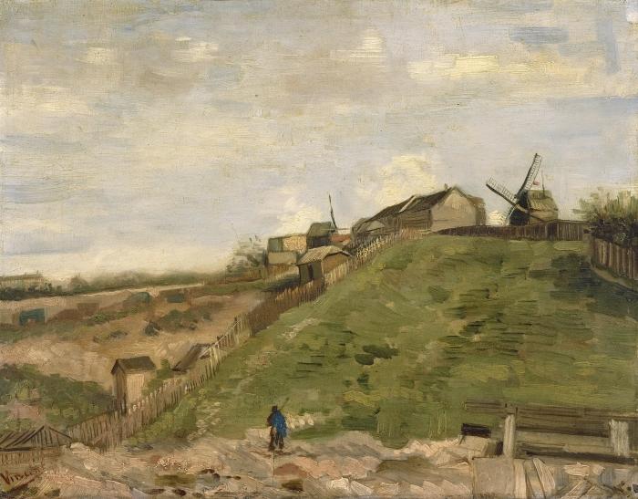 Papier peint vinyle Vincent van Gogh - La Colline de Montmartre avec une carrière de pierres - Reproductions