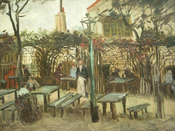 Pixerstick Sticker Vincent van Gogh - Terras van een cafe op Montmartre (La Guinguette) - Reproductions