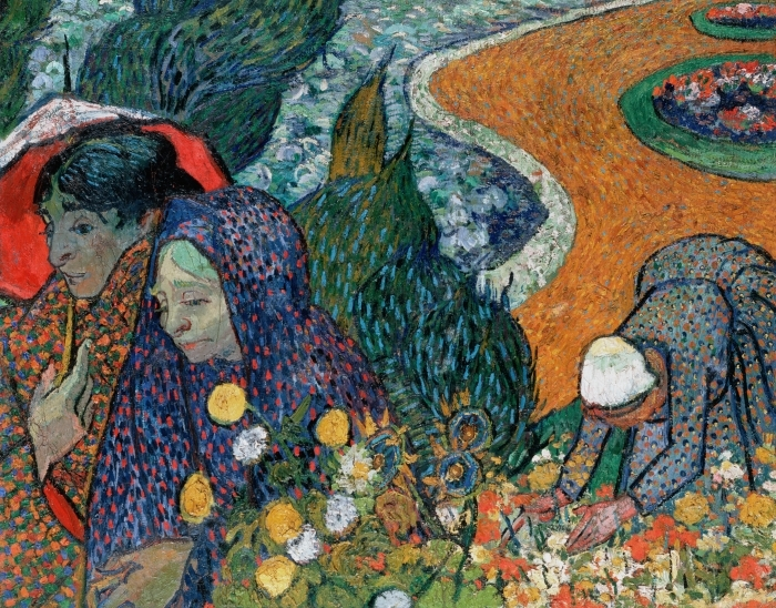Papier peint vinyle Vincent van Gogh - Souvenir du jardin à Etten - Reproductions