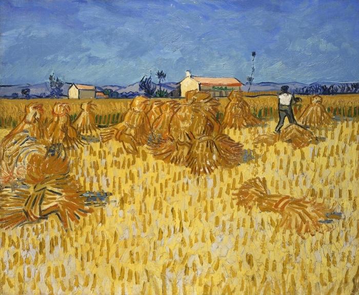 Pixerstick Aufkleber Vincent van Gogh - Ernte in der Provence - Reproductions