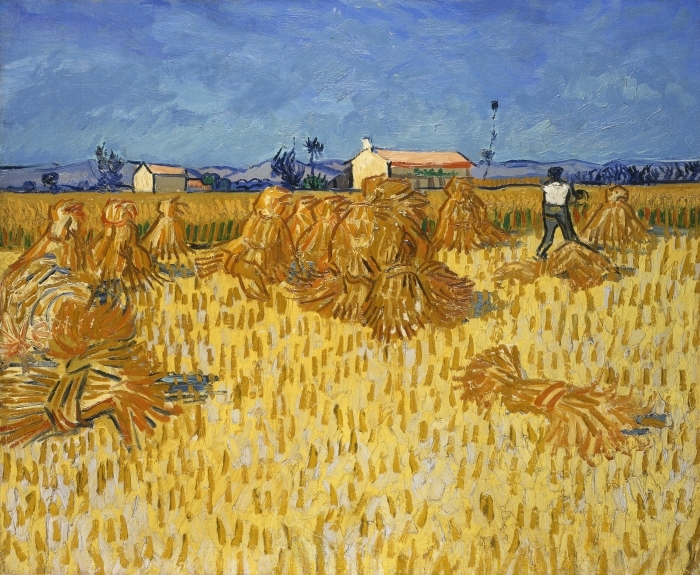 Sticker Pixerstick Vincent van Gogh - Récolte en Provence - Reproductions