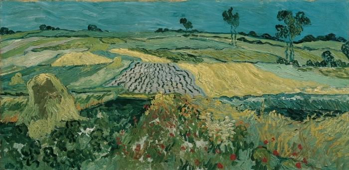 Vinyl Fotobehang Vincent van Gogh - Velden bij Auvers - Reproductions