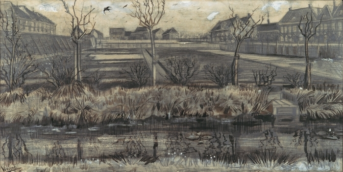 Naklejka Pixerstick Vincent van Gogh - Szkółka w Schenkweg - Reproductions