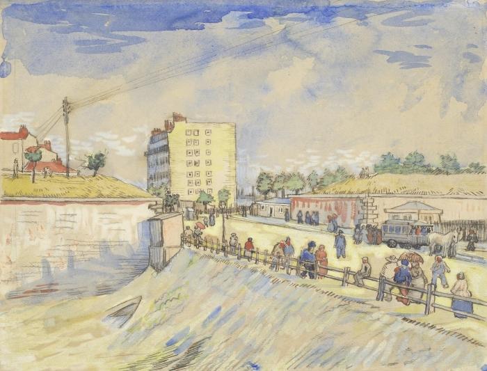 Naklejka Pixerstick Vincent van Gogh - Brama na wałach Paryża - Reproductions