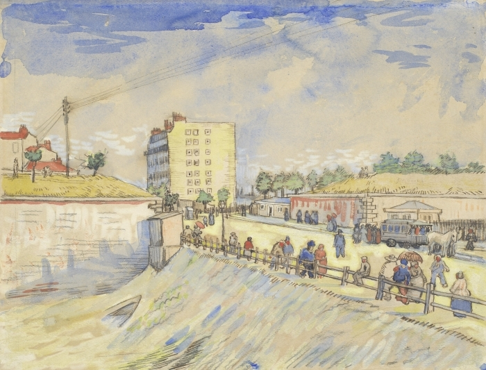 Papier peint vinyle Vincent van Gogh - Porte dans les Ramparts Paris - Reproductions