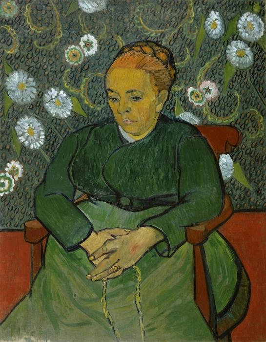 Sticker Pixerstick Vincent van Gogh - La Berceuse - Reproductions