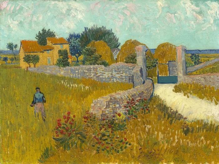 Naklejka Pixerstick Vincent van Gogh - Pole ze zbożem - Reproductions