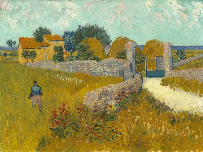Vincent van Gogh - Wheat Field Vinyl Wall Mural - Reproductions