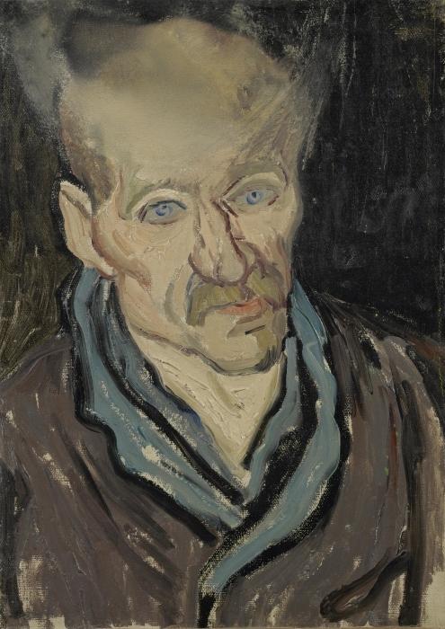 Naklejka Pixerstick Vincent van Gogh - Portret pacjenta szpitala św. Pawła - Reproductions