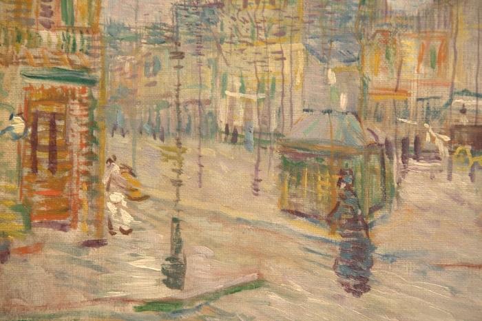 Naklejka Pixerstick Vincent van Gogh - Boulevard de Clichy - Reproductions