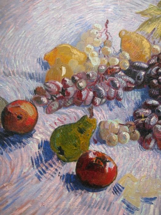 Pixerstick Sticker Vincent van Gogh - Stilleven met appels, peren, citroenen en druiven - Reproductions