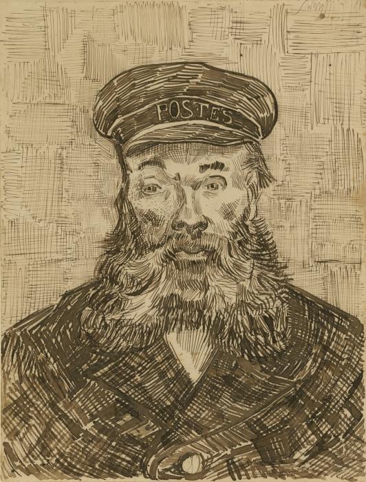 Naklejka Pixerstick Vincent van Gogh - Listonosz Joseph Roulin - Reproductions