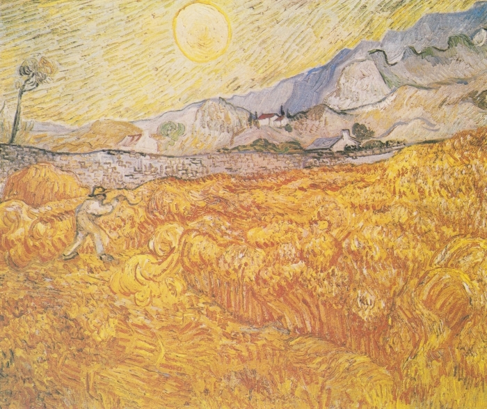Papier peint vinyle Vincent van Gogh - Récolte - Reproductions