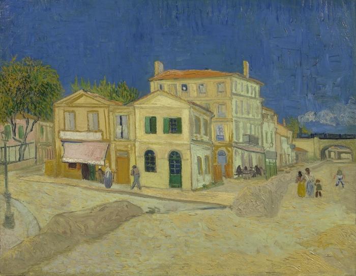 Naklejka Pixerstick Vincent van Gogh - Żółty Dom - Reproductions
