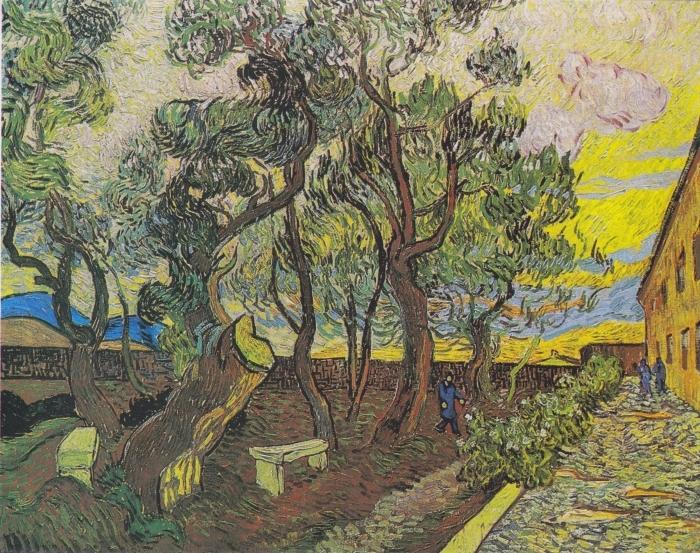 Sticker Pixerstick Vincent van Gogh - Le jardin de l'hôpital Saint Paul - Reproductions