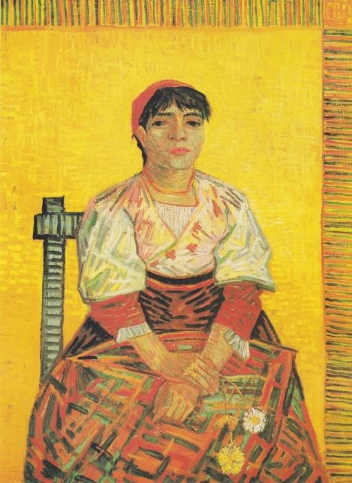 Vinilo Pixerstick Vincent van Gogh - La mujer italiana - Reproductions