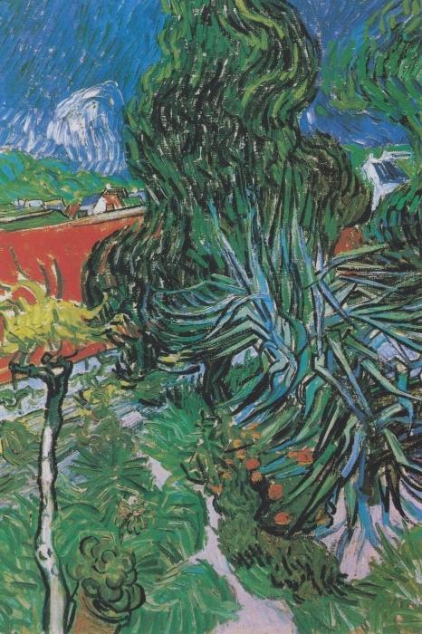 Pixerstick Aufkleber Vincent van Gogh - Der Garten von Dr. Gachet in Auvers - Reproductions