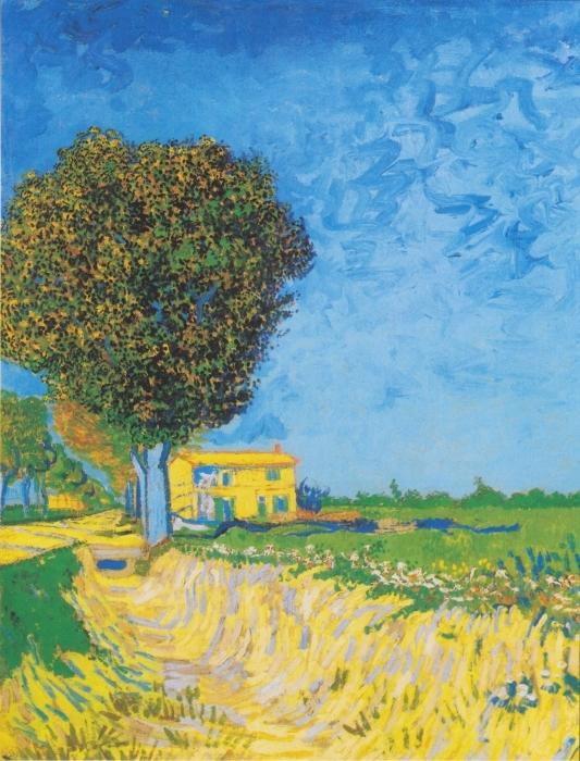 Naklejka Pixerstick Vincent van Gogh - Droga nieopodal Arles - Reproductions