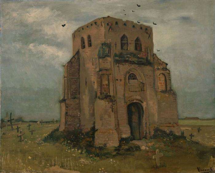 Vinyl Fotobehang Vincent van Gogh - De oude kerktoren te Nuenen (Het boerenkerkhof) - Reproductions
