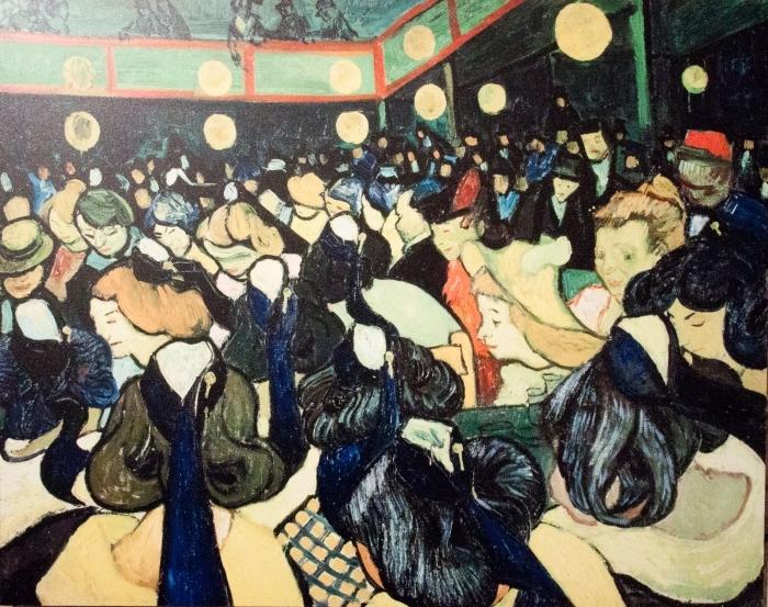 Naklejka Pixerstick Vincent van Gogh - Sala taneczna w Arles - Reproductions