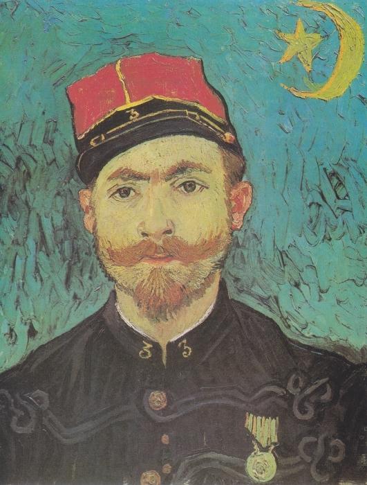 Papier peint vinyle Vincent van Gogh - Portrait de Paul-Eugène Milliet - Reproductions