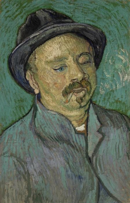 Naklejka Pixerstick Vincent van Gogh - Portret osamotnionego mężczyzny - Reproductions