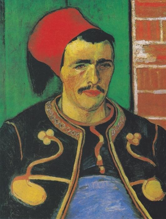 Papier peint vinyle Vincent van Gogh - le Zouave - Reproductions
