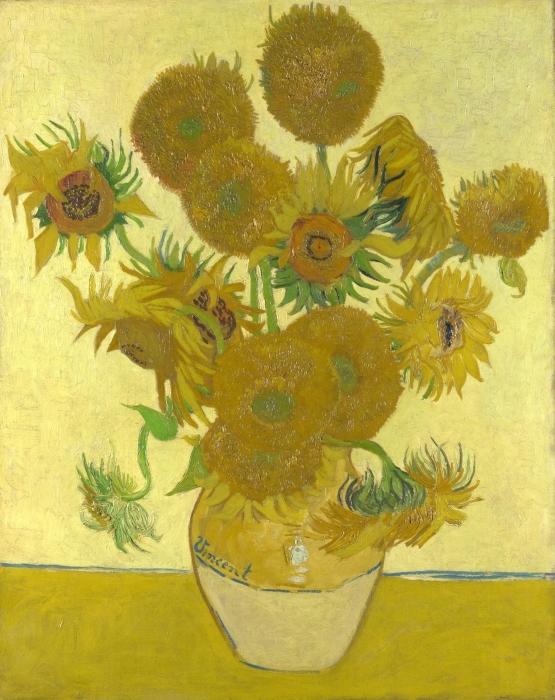 Pixerstick Aufkleber Vincent van Gogh - Sonnenblumen - Reproductions