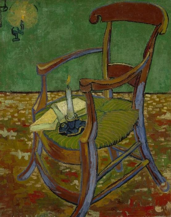 Pixerstick Sticker Vincent van Gogh - De stoel van Gauguin - Reproductions