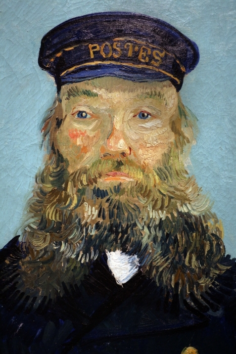 Naklejka Pixerstick Vincent van Gogh - Portret listonosza Józefa Roulina - Reproductions