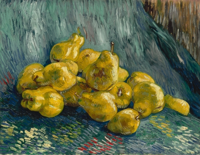 Papier peint vinyle Vincent van Gogh - Nature morte avec coings - Reproductions