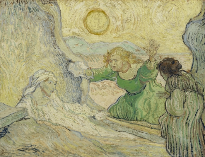 Naklejka Pixerstick Vincent van Gogh - Wskrzeszenie Łazarza - Reproductions