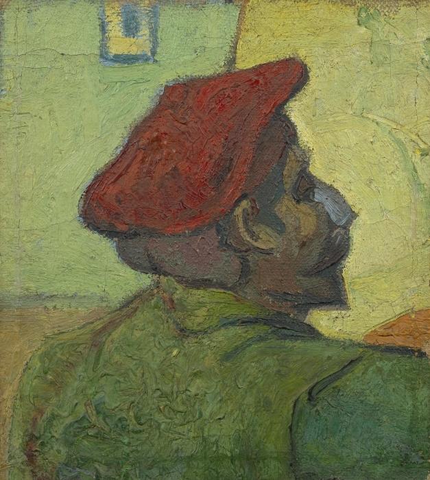 Papier peint vinyle Vincent van Gogh - Homme au béret rouge - Reproductions