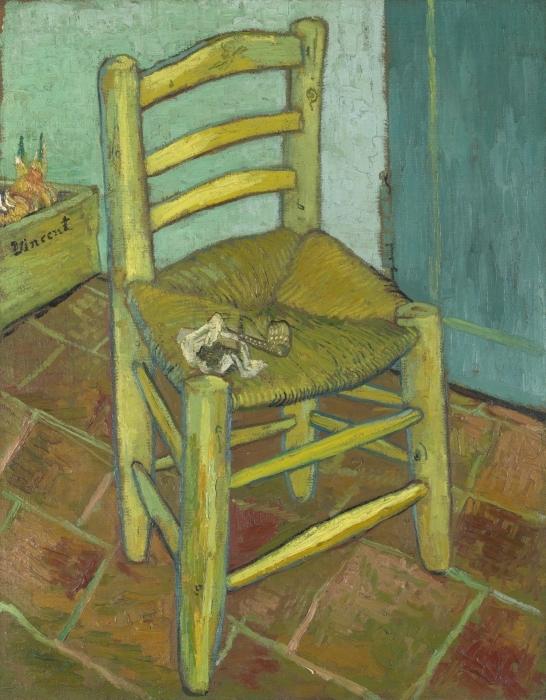 Pixerstick Aufkleber Vincent van Gogh - Van Goghs Stuhl - Reproductions