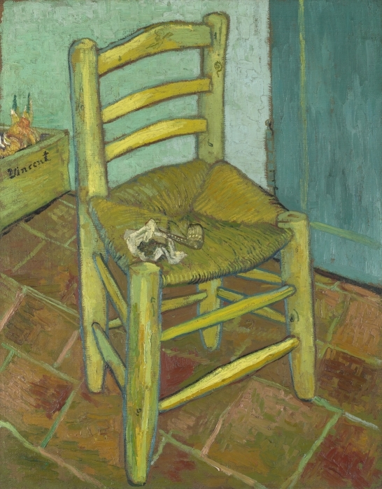 Naklejka Pixerstick Vincent van Gogh - Krzesło Van Gogha - Reproductions
