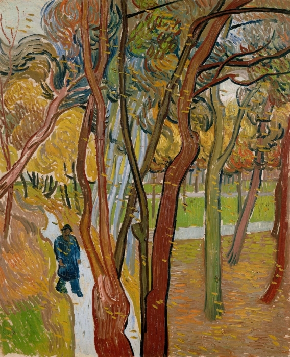Pixerstick Aufkleber Vincent van Gogh - Fallende Blätter - Reproductions