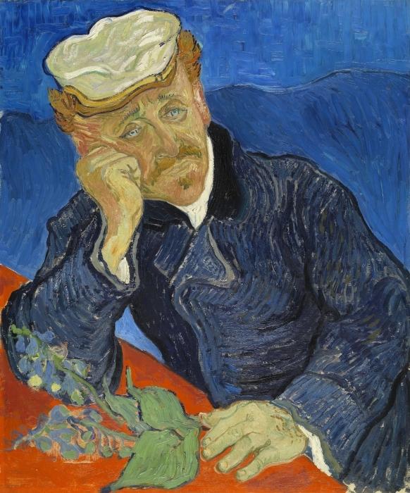 Pixerstick Sticker Vincent van Gogh - Portret van Dr. Gachet - Reproductions