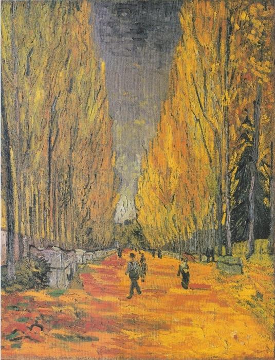 Naklejka Pixerstick Vincent van Gogh - Les Alyscamps - Reproductions