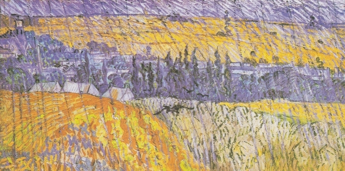 Vinyl-Fototapete Vincent van Gogh - Auvers im Regen - Reproductions