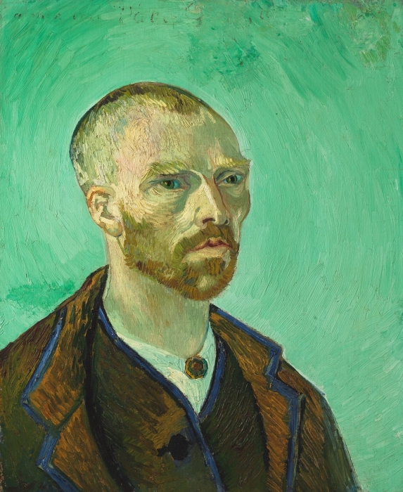 Pixerstick Aufkleber Vincent van Gogh - Selbstbildnis (Paul Gauguin gewidmet) - Reproductions