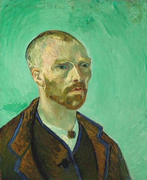 Vinilo Pixerstick Vincent van Gogh - Autorretrato dedicado a Paul Gauguin - Reproductions