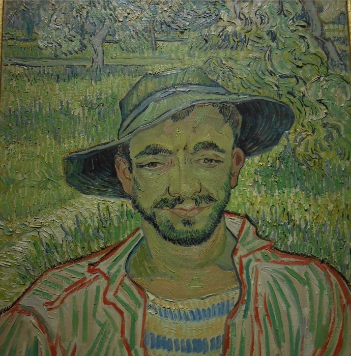 Sticker Pixerstick Vincent van Gogh - Le jardinier - Reproductions