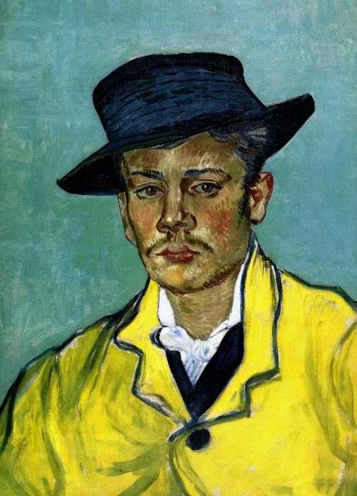 Fotomural Estándar Vincent van Gogh - Retrato de un hombre joven (Armand Roulin) - Reproductions
