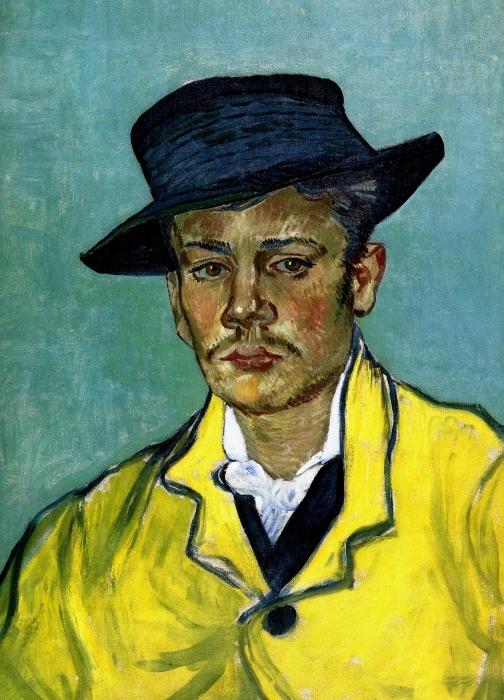 Naklejka Pixerstick Vincent van Gogh - Portret młodego mężczyzny - Reproductions