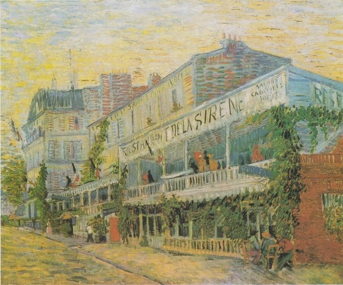 Pixerstick Aufkleber Vincent van Gogh - Das Restaurant De la Siréne in Asniéres - Reproductions
