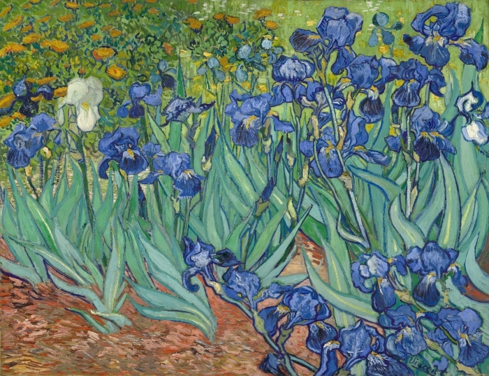 Vincent van Gogh - Irises Pixerstick Sticker - Reproductions