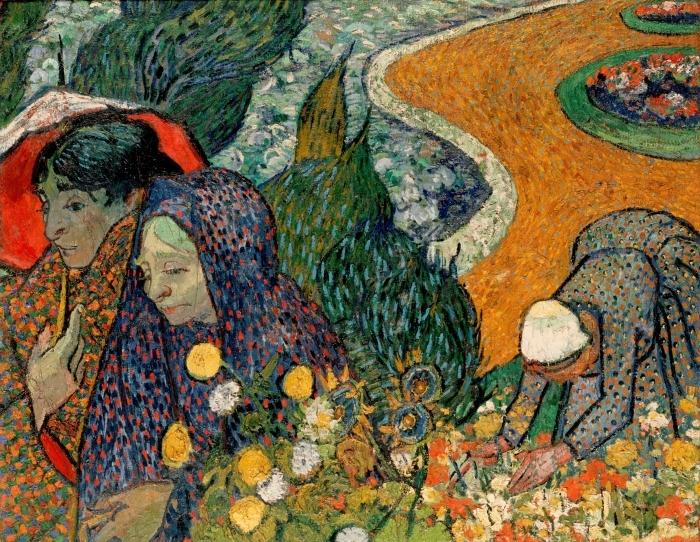 Vinilo Pixerstick Vincent van Gogh - Señoras de Arles - Reproductions
