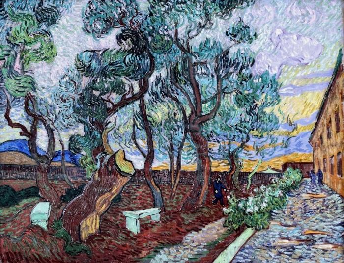 Naklejka Pixerstick Vincent van Gogh - Szpitalny ogród w St. Remy - Reproductions